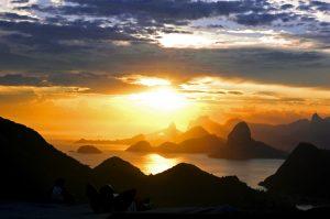 Pôr do sol em Niterói