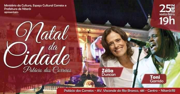 Natal em Niterói terá Zélia Duncan, Toni Garrido e espetáculo de luzes