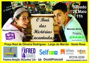 Teatro Infantil de Graça na Praça do Largo do Marrão