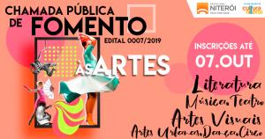 EDITAL DE FOMENTO À ARTE DE NITERÓI ABERTO ATÉ OUTUBRO