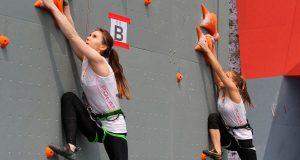 Escalada de velocidade estreia ano olímpico em Niterói