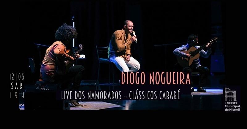 Diogo Nogueira homenageia o dia dos namorados no palco do Theatro Municipal de Niterói